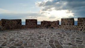 Coucher du soleil du château photographie stock libre de droits