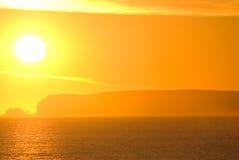Coucher du soleil chaud Images libres de droits