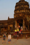 Coucher du soleil chez Angkor Vat images libres de droits