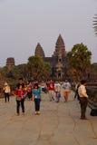 Coucher du soleil chez Angkor Vat photographie stock