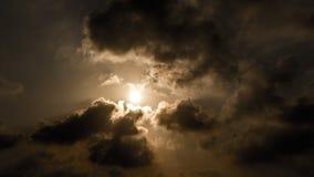 Coucher du soleil chez Apollonia Beach Photographie stock