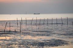 Coucher du soleil chez Bangpoo Images libres de droits