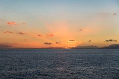 Coucher du soleil chez Callao Salvaje Photos stock