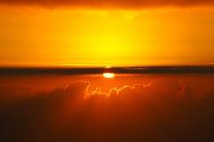 Coucher du soleil chez Canarias Photos stock