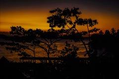 Coucher du soleil chez Cayo Levantado - République Dominicaine  images stock