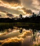 Coucher du soleil chez Custer, le Dakota du Sud Photo libre de droits