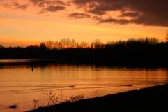Coucher du soleil chez Delftse Hout Image libre de droits