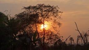 Coucher du soleil chez Diabari image stock