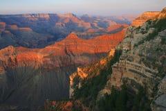 Coucher du soleil chez Grand Canyon, Arizona Photographie stock