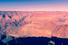 Coucher du soleil chez Grand Canyon Arizona Etats-Unis photos libres de droits