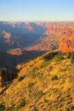 Coucher du soleil chez Grand Canyon Arizona Etats-Unis images stock