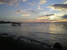 Coucher du soleil chez Isla Ometepe Ometep Island, Nicaragua Images stock