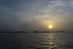 Coucher du soleil chez Kochi Photos libres de droits