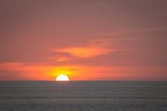Coucher du soleil chez l'Andaman photographie stock