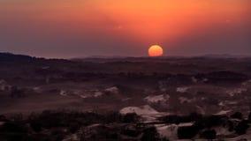 Coucher du soleil chez l'Inner Mongolia images stock