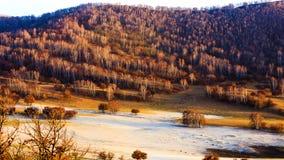 Coucher du soleil chez l'Inner Mongolia image libre de droits