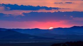 Coucher du soleil chez l'Inner Mongolia photographie stock libre de droits