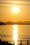 Coucher du soleil chez la Thaïlande images stock