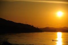 Coucher du soleil chez la Thaïlande photos libres de droits