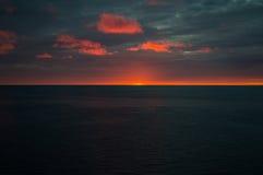 Coucher du soleil chez Lark Harbor dans Terre-Neuve image stock
