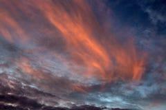 Coucher du soleil chez Loxahatchee image libre de droits