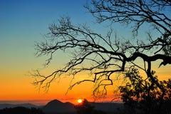 Coucher du soleil chez Maehongson Photographie stock
