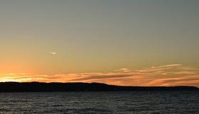 Coucher du soleil chez Mukilteo, Washington2 Image libre de droits
