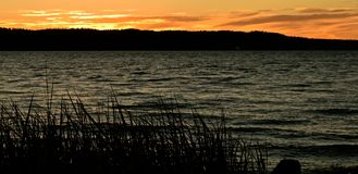 Coucher du soleil chez Mukilteo, Washington14 Image stock