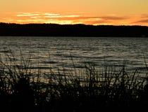 Coucher du soleil chez Mukilteo, Washington13 Photographie stock