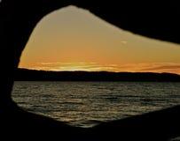 Coucher du soleil chez Mukilteo, Washington10 Photo stock
