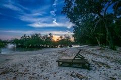 Coucher du soleil chez Neil Island Andaman photographie stock libre de droits