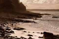 Coucher du soleil chez Noosa Image stock