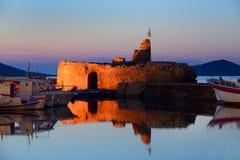 Coucher du soleil chez Paros Image libre de droits