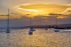 Coucher du soleil chez Ponce Photographie stock