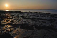 Coucher du soleil chez Portishead Photos libres de droits