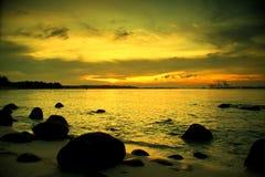 Coucher du soleil chez Punggol Images libres de droits