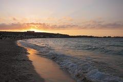 Coucher du soleil chez San Vito Lo Capo photographie stock libre de droits