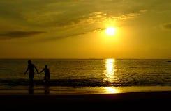 Coucher du soleil chez Ténérife Images libres de droits