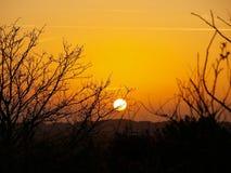 Coucher du soleil chez Terschelling Photos libres de droits