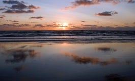 Coucher du soleil chez Zandvoort Photos stock