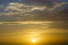 Coucher du soleil Cloudscape Image libre de droits