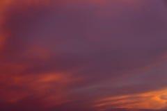 Coucher du soleil Cloudscape Photo stock