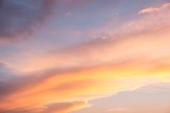 Coucher du soleil Cloudscape Photographie stock