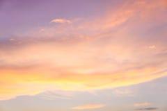 Coucher du soleil Cloudscape Image stock