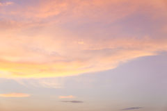 Coucher du soleil Cloudscape Images libres de droits