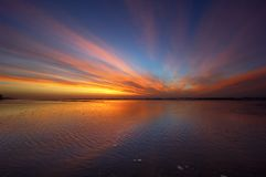 Coucher du soleil coloré Photographie stock libre de droits