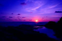 Coucher du soleil cornouaillais Images stock