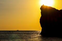 Coucher du soleil criméen Images libres de droits
