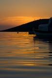 Coucher du soleil croate image libre de droits