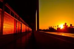 Coucher du soleil d'école Photographie stock